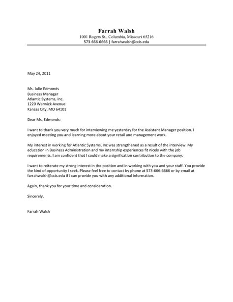 thank you letter after no response follow up letter to employer after sle