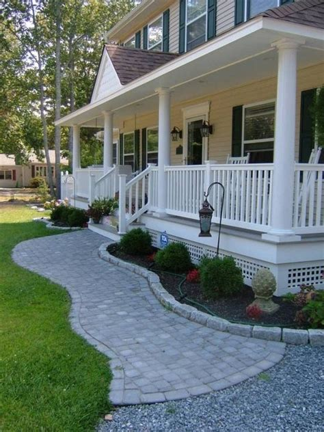 Landscaping And Outdoor Building Home Front Porch House Patio Designs