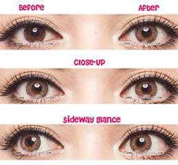 colored contacts on brown geo tri color brown circle lenses colored contacts