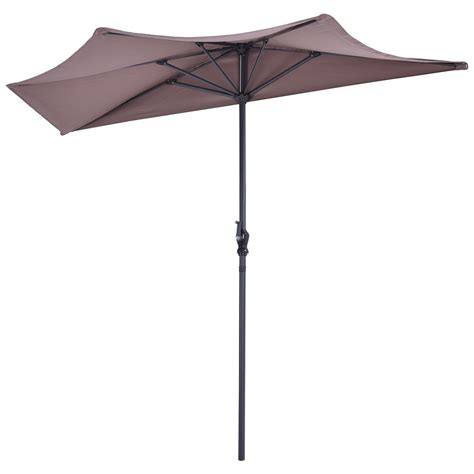 Patio Half Umbrella Us 9ft Half Umbrella Patio Bistro Wall Balcony Door Window Sun Shade 2016 Ebay