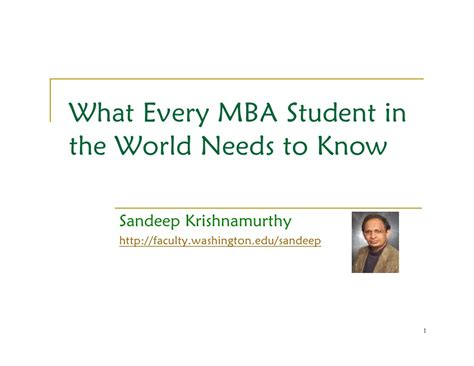 What An Mba Student Should Do by What Every Mba Student In The World Needs To