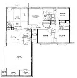 1500 Square Foot House Plans by Ranch Style House Plan 4 Beds 2 Baths 1500 Sq Ft Plan