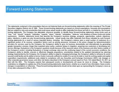 supplemental k 1 information statement tns inc form 8 k ex 99 2 may 2 2011