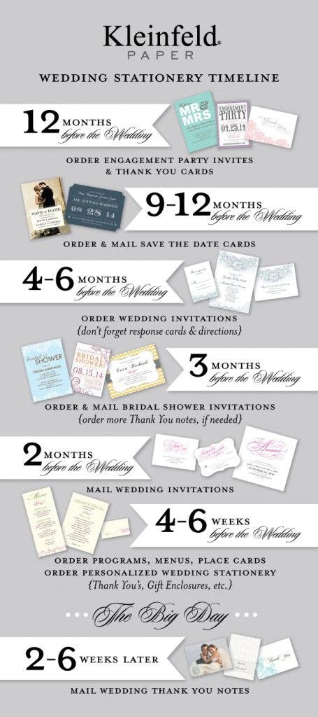 kleinfeld bridal shower invitations our wedding stationery timeline when to order your