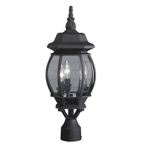 Post Lights Lowes by Shop Portfolio 21 34 In H Black Post Light At Lowes