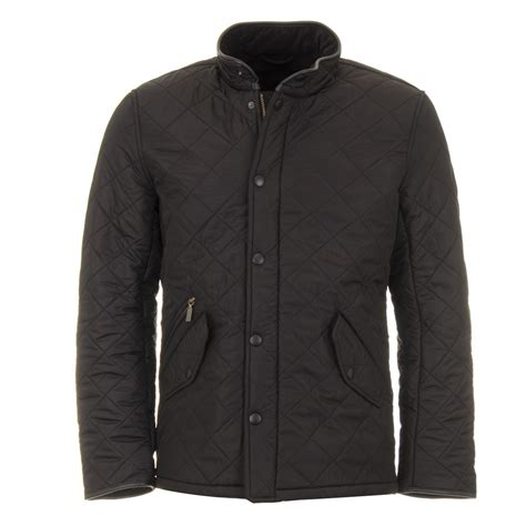 Barbour Black Quilted Jacket by Barbour Powell Quilt Black