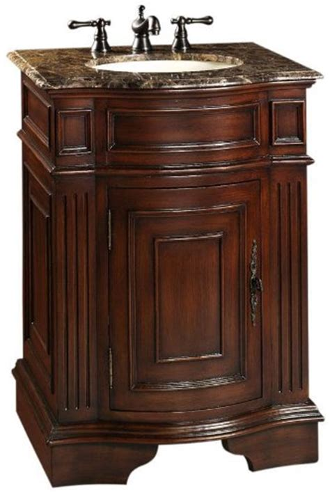 Adelina 26 Inch Petite Antique Bathroom Vanity Cherry Finish 26 Inch Bathroom Vanities