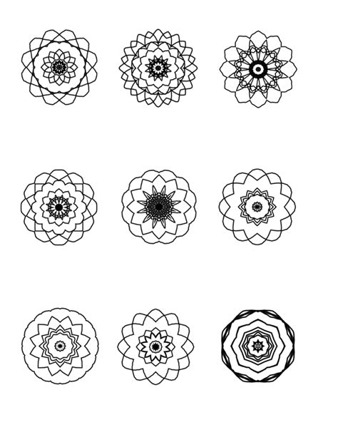 small mandala coloring pages more mini mandalas to color ilah s blog about mandalas