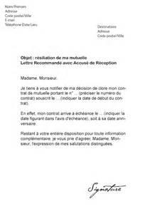 Exemple De Lettre Resiliation Mutuelle Sante Lettre De R 233 Siliation Pour Une Mutuelle Mod 232 Le De Lettre