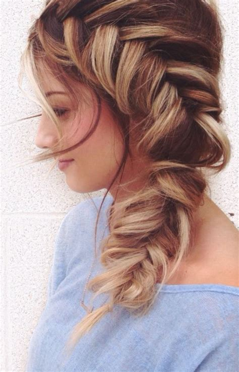 fishbone hair brsids an end off with knots side fish braid hair pinterest fish hair style and