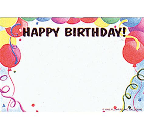 printable birthday cards blank 50 balloons happy birthday print florist blank