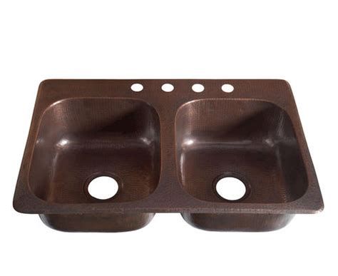 kitchen sinks at menards sinkology handcrafted 33 quot x 22 quot drop in copper