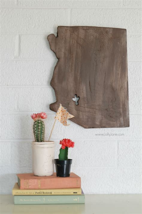 Handmade Home Gifts - faux wood foam state