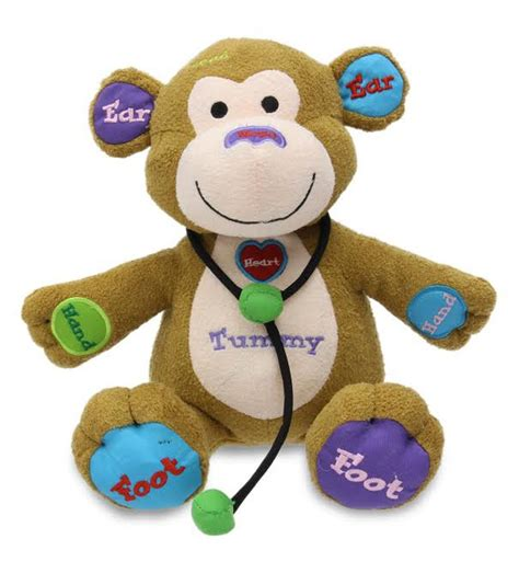 cuddle barn animated plush toy dr charlie monkey sings