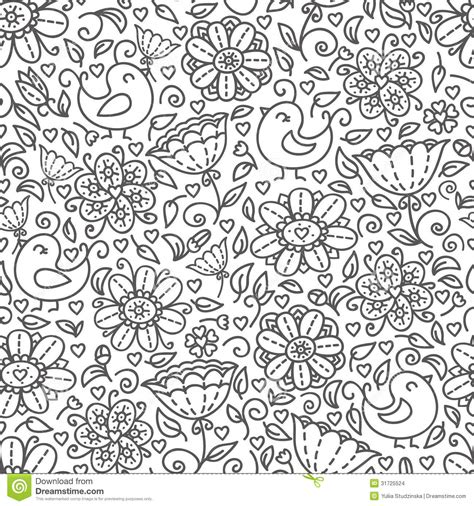 pattern outline outline of floral pattern stock vector image of cute