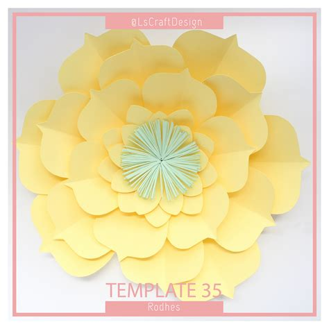 templates for paper flowers pdf paper flower paper flower template big paper flower