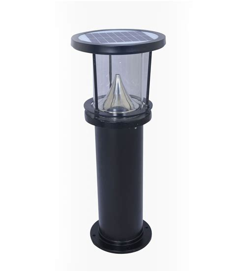solar bollard lights outdoor king sun black solar bollard garden light buy king sun black solar bollard garden light at best