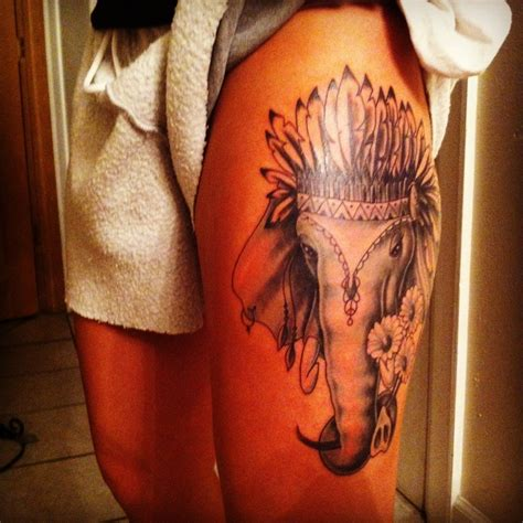 elephant tattoo upper thigh elephant tattoos for men ideas for guys and image gallery