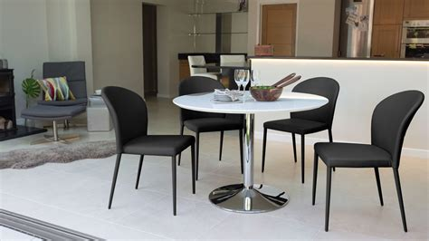 White Gloss Pedestal Dining Set Faux Leather Chairs Uk White Dining Table Set Uk