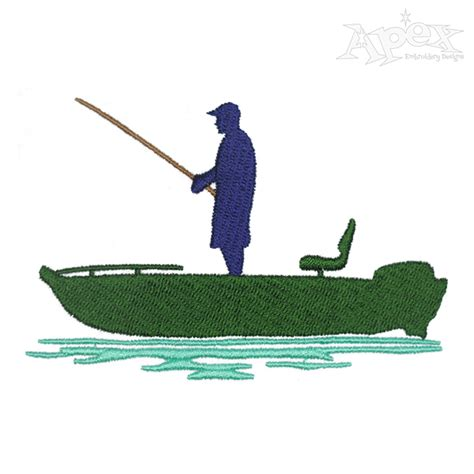 fishing boat embroidery design bass boat embroidery design