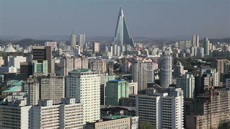 Pyongyang, City skyline and Ryugyong Hotel, North Korea ...
