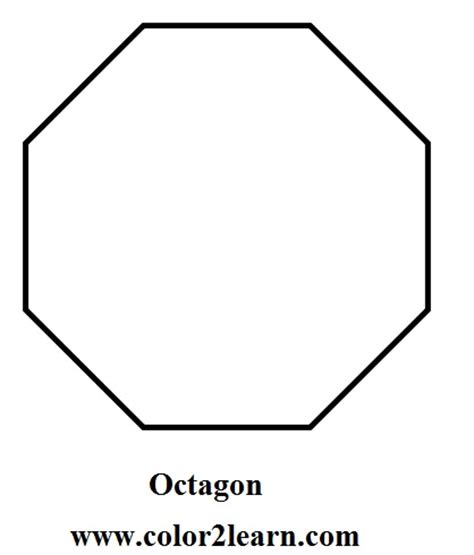 octagon template printable octagon coloring page coloring pages