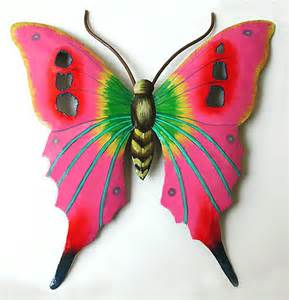 painted butterflies butterfly wall metal wall