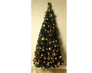 Pre lit wall mount half christmas tree new and boxed ebay