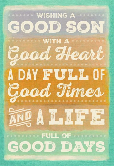 Its All Good Son  Ee  Birthday Ee   Card Greeting Cards Hallmark
