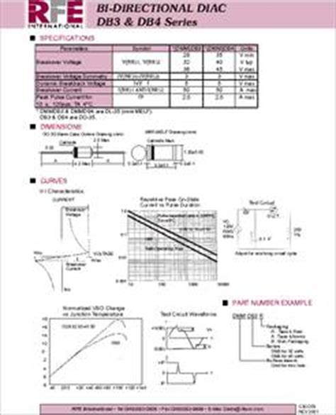 diac diode datasheet dmmdb3a datasheet diac surface mount throughhole