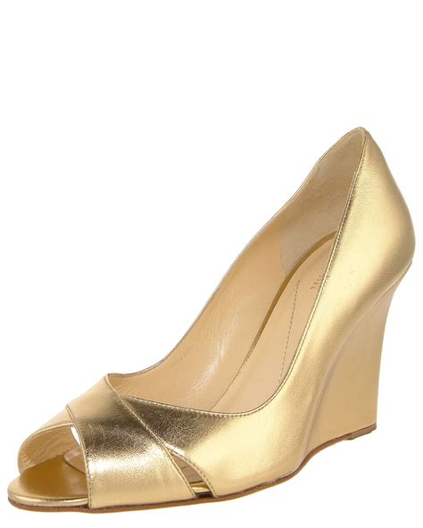 Kate Spade Wedges 1 kate spade copa crisscross wedge gold in gold lyst