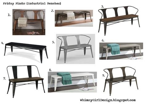 Tabouret Bench by Whimsy Design Friday Finds Industrial Benches