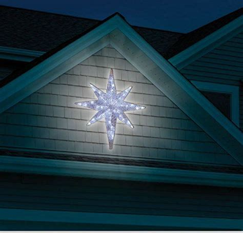 christmas 4 led lighted star of bethlehem outdoor hanging
