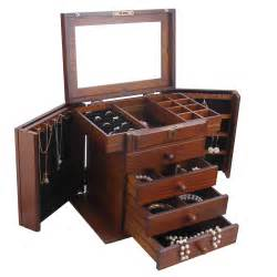 Armoire Jewelry Boxes Large Wooden Jewelry Box Armoire Rings Storage Box