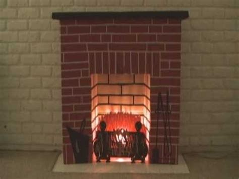 Cardboard Fireplace With Chimney by Cardboard Electric Fireplace Project Creation
