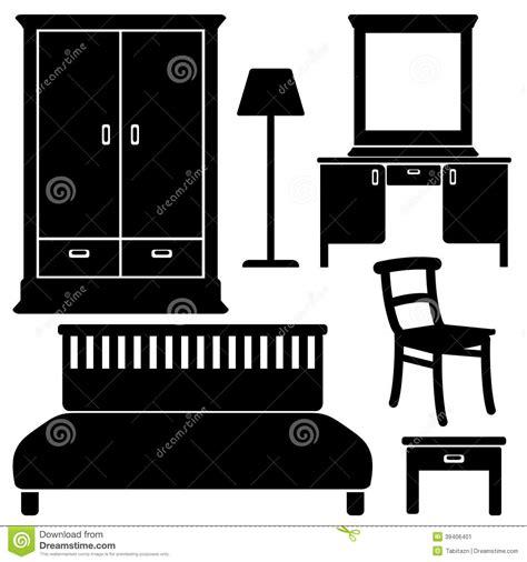 bedroom icons  reflect  white background vector illustration cartoondealercom