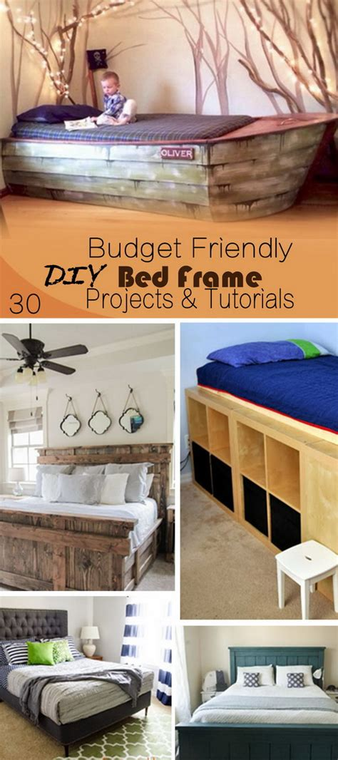 budget bed frames 30 budget friendly diy bed frame projects tutorials