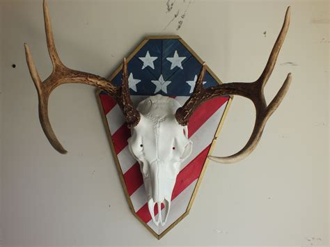 tag european plaque us flag harvest plaques shown with european skull mount