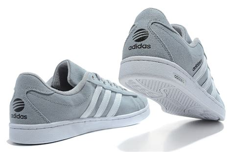 exclusive adidas c neo canvas shoes gray white