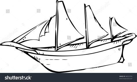 boat drawing basic simple hand drawing sailing boat stock vector 98225753