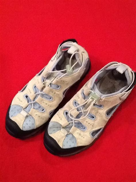 lands end shoes womens lands end leather athletic hiking shoes sandals