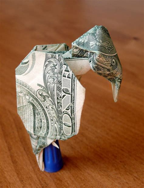 Origami Vulture - dollar origami vulture v1 by craigfoldsfives on deviantart