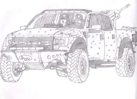 F150 Coloring Page by Ford F150 Raptor Free Coloring Pages
