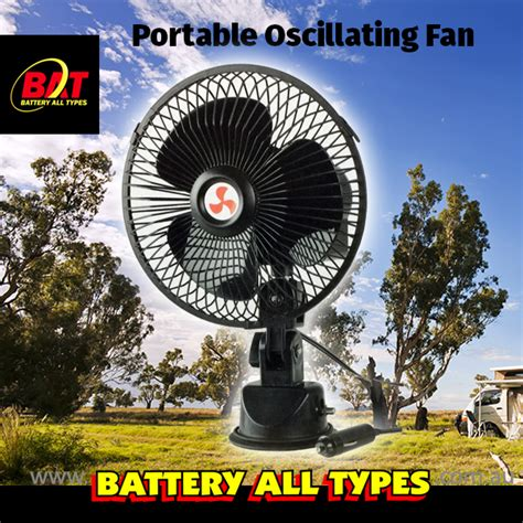 12 volt portable fan 12v portable oscillating fan battery all types