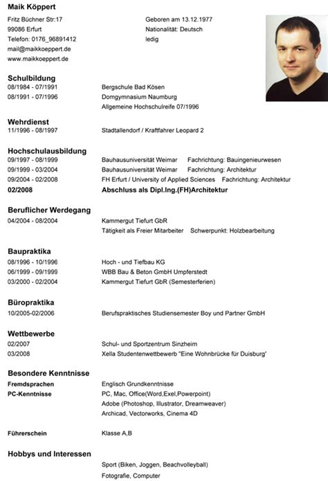 Lebenslauf Curriculum Vitae Maik Cv Lebenslauf Picture To Pin On Thepinsta