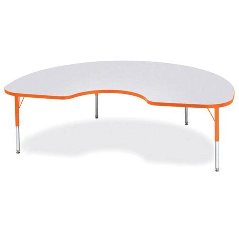 kidney shaped table for classroom kidney shaped activity table rainbow accent flaghouse