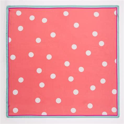 Maxmara Pt 01 Square Pink paul smith s pink random spot print silk scarf in lyst