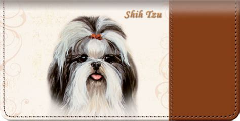 shih tzu covers shih tzu checkbook cover