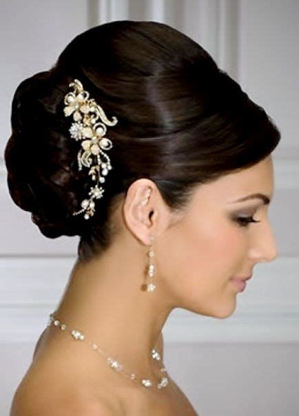 classic elegant hairstyles pictures bride s sleek updo bun wedding hairstyle wedding hair