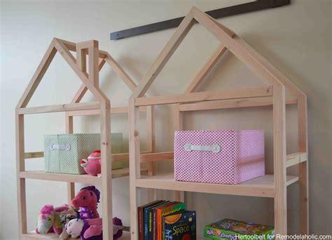 diy house remodelaholic diy house frame bookshelf plans